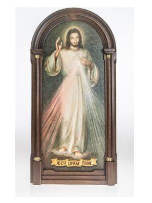 Jezu ufam Tobie - Obraz w drewnianej ramie przestrzennej