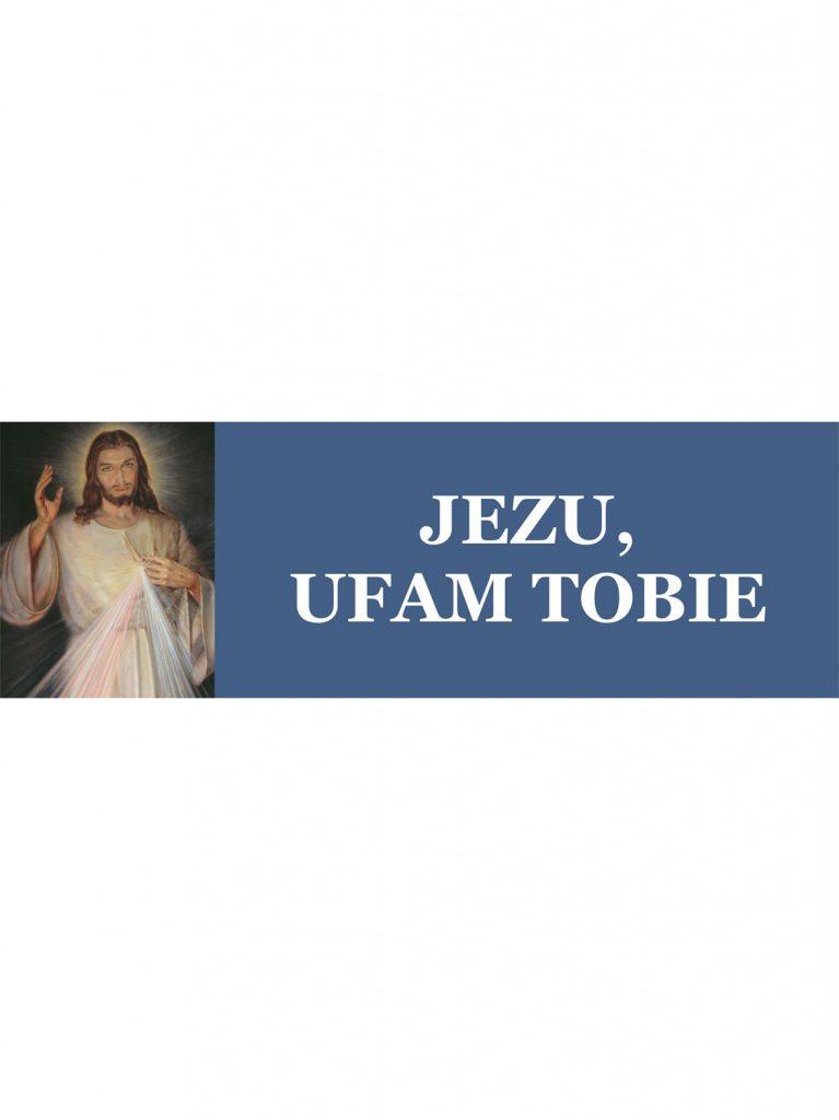 Baner – Obraz Jezusa Miłosiernego – wzór B3 (3x1 m)