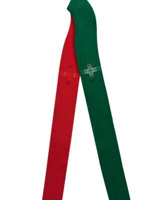 Stuła dwustronna zdobiona cieniowanym haftem krzyża