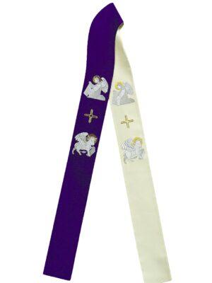 Stuła dwustronna z haftem symboli Czterech Ewangelistów