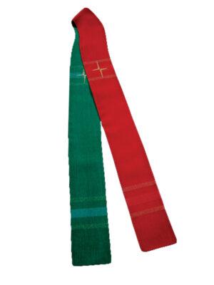 Stuła dwustronna z nowoczesnym haftem krzyża