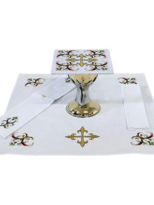 Bielizna kielichowa z haftem krzyża liliowego