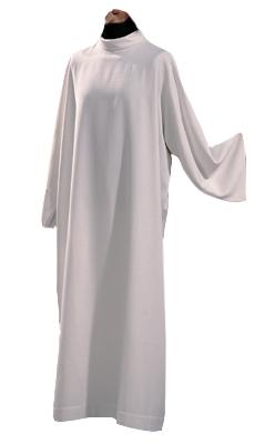 Alba z tkaniny typu len