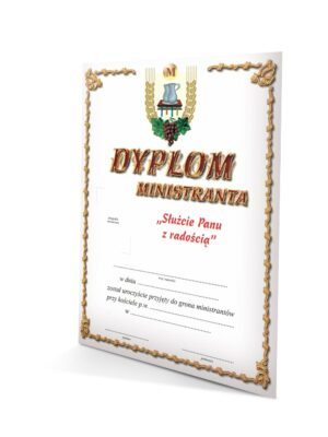Dyplom dla ministranta A5