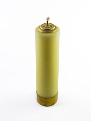 Świeca olejowa gładka żółta