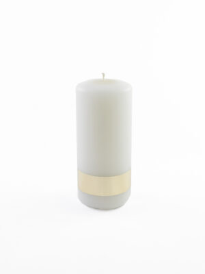 Świeca parafinowa biała 17 cm