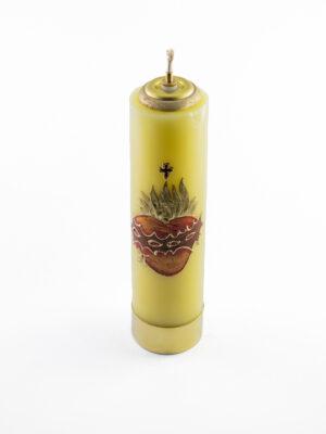 Świeca olejowa Serce żółta