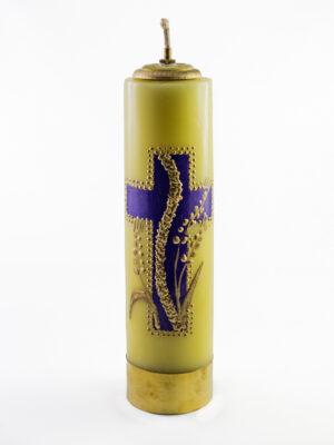 Świeca olejowa Krzyż żółta