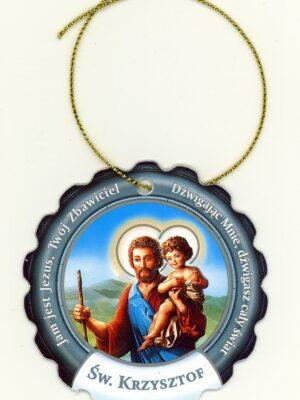 Okrągła zawieszka - św. Krzysztof
