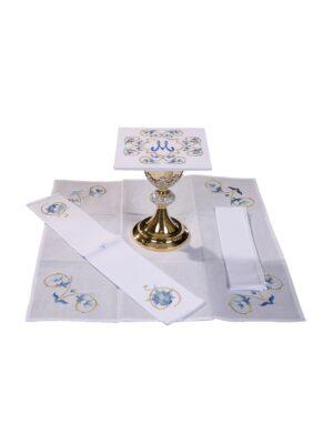 Bielizna kielichowa Maryjna z bogatym haftem