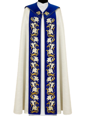 Kapa Maryjna z haftem lilii