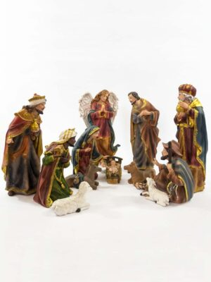 Szopka Bożonarodzeniowa 12-elementowa wzór nr 1