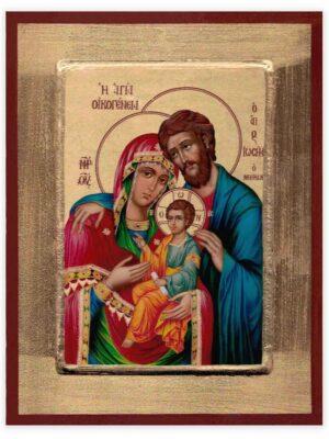Ikona Święta Rodzina ozdobna