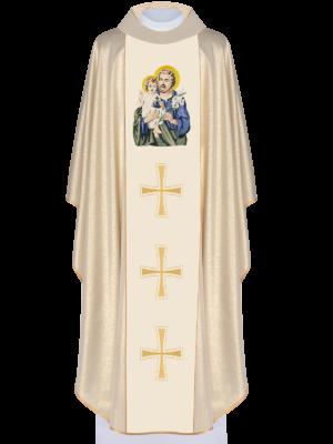 Ornat brokatowy z wizerunkiem św. Józefa