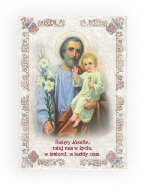 Obraz święty Józef (z napisem)
