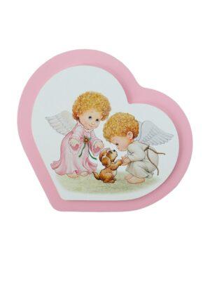 Obrazek z dwoma aniołkami i pieskiem