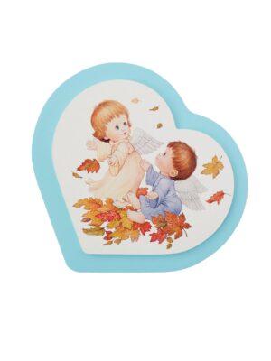 Obrazek z dwoma aniołkami wśród liści