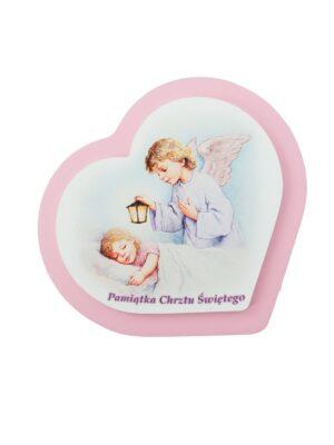Obrazek z Aniołem Stróżem nad śpiącą dziewczynką