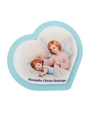 Obrazek z Aniołem Stróżem nad śpiącym chłopcem