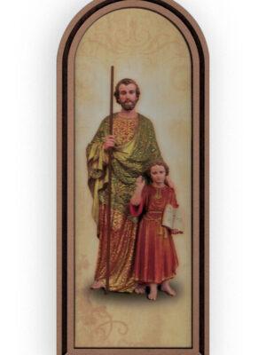 Obrazek półokrągły w ramce święty Józef