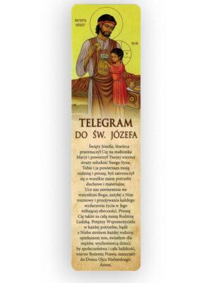 Zakładka z modlitwą do świętego Józefa