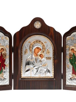 Ikona Matka Boża z Dzieciątkiem – tryptyk