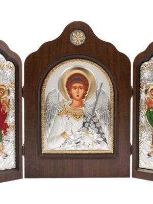 Ikona święty Michał Archanioł - tryptyk