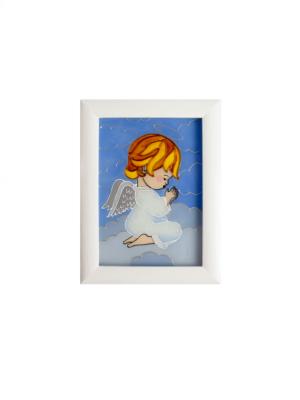Obrazek malowany na szkle – Anioł Stróż modlący się