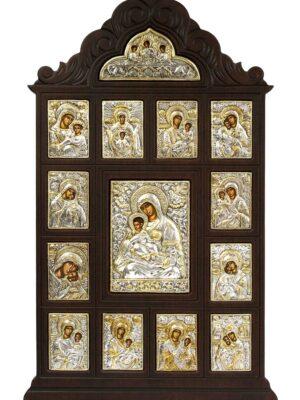 Ikona z wizerunkami Matki Bożej