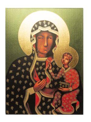 Obraz Matka Boża Częstochowska na drewnie
