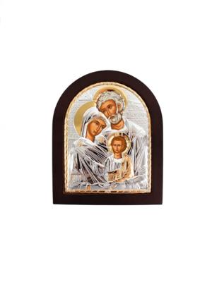 Ikona święta Rodzina srebrna