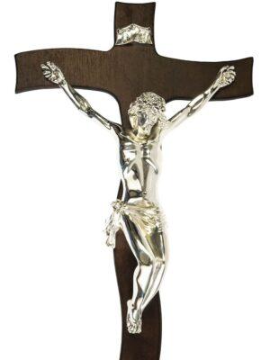 Krzyż wiszący - srebrna figura