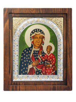 Ikona Matka Boża Częstochowska (na drewnie)