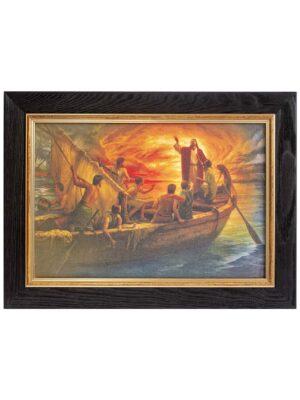 """Obraz na płótnie """"Jezus ucisza burzę na morzu"""""""