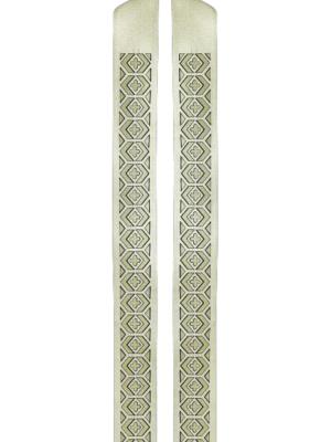 Stuła brokatowa z wzorem krzyżyków i figur geometrycznych