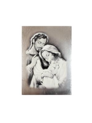 Obraz Święta Rodzina czarno-biały