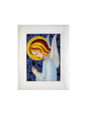 Obraz na szkle Anioł Stróż modlący się