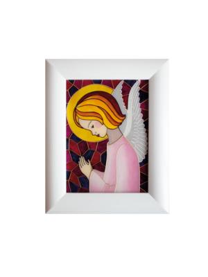 Obraz malowany na szkle Anioł Stróż