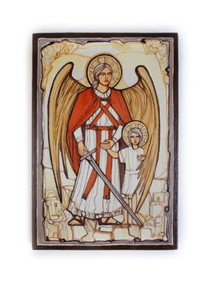 Obraz na drewnie Archanioł Rafał