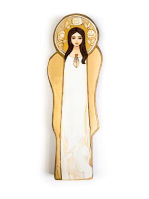 Anioł Stróż - obraz na drewnie