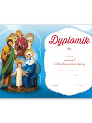 Dyplom za udział w katechezie przedszkolnej
