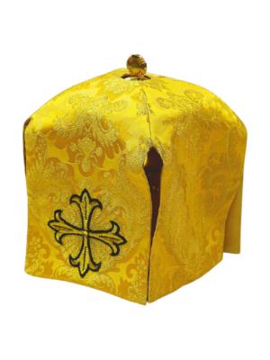 Haftowana sukienka na puszkę krzyż z kamieniem