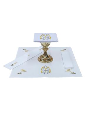 Bielizna kielichowa Maryjna w kolorze złoto-srebrnym