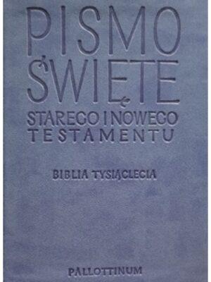 Biblia Tysiąclecia (Travel) jasnoniebieska