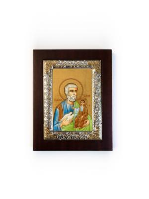 Ikona święty Józef srebrna