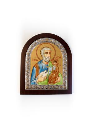 Święty Józef srebrna ikona