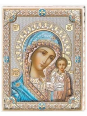 Madonna Kazańska - niebieska