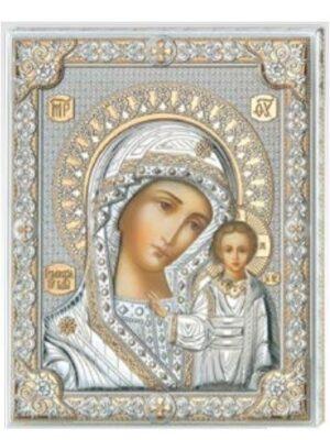 Madonna Kazańska - srebrna