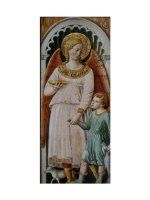 Obraz drewniany Anioł Stróż