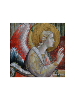 Obraz Anioł Stróż drewniany